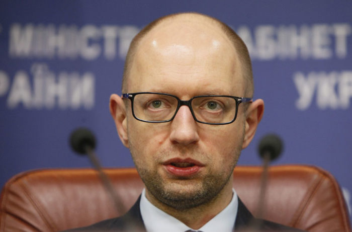 Ukrainian Prime Minister Arseny Yatseniuk attends a news conference in Kiev, November 20, 2014. REUTERS/Valentyn Ogirenko (UKRAINE  - Tags: POLITICS)